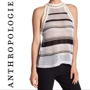Anthropologie John & Jenn Open Stitch Knit Top